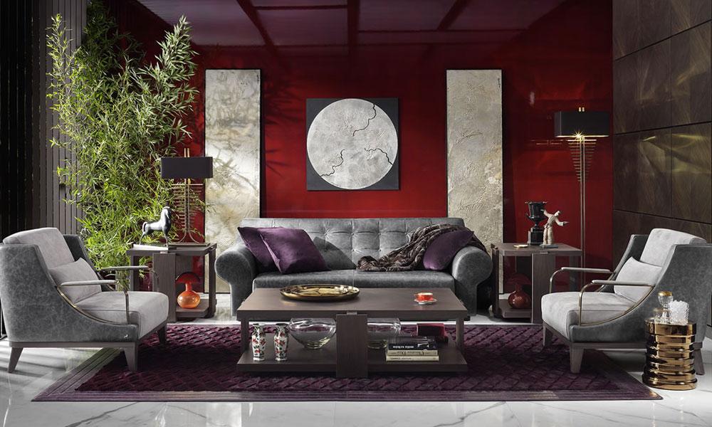 Orientalny salon z motywem czerwieni