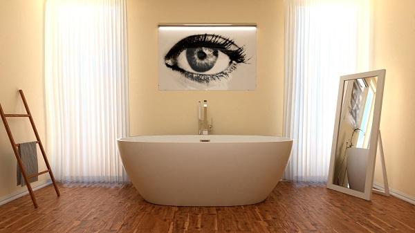Duża łazienka z wanną