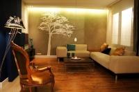 Nowoczesny salon w kolorach brązu